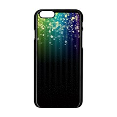 Colorful Space Rainbow Stars Apple Iphone 6/6s Black Enamel Case