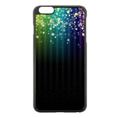 Colorful Space Rainbow Stars Apple Iphone 6 Plus/6s Plus Black Enamel Case