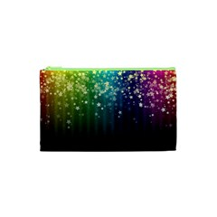 Colorful Space Rainbow Stars Cosmetic Bag (xs)