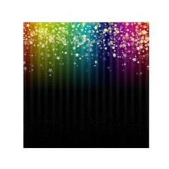 Colorful Space Rainbow Stars Small Satin Scarf (square)