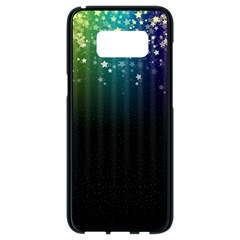 Colorful Space Rainbow Stars Samsung Galaxy S8 Black Seamless Case