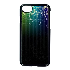 Colorful Space Rainbow Stars Apple Iphone 8 Seamless Case (black)