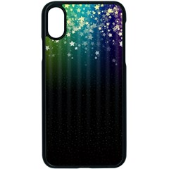 Colorful Space Rainbow Stars Apple Iphone X Seamless Case (black)