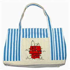 Peanuts Snoopy Striped Blue Tote Bag