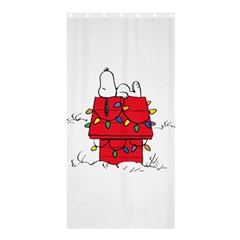 Peanuts Snoopy Shower Curtain 36  X 72  (stall)