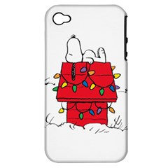 Peanuts Snoopy Apple Iphone 4/4s Hardshell Case (pc+silicone)