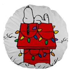 Peanuts Snoopy Large 18  Premium Round Cushions