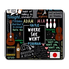 Book Quote Collage Large Mousepads by Samandel