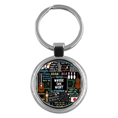 Book Quote Collage Key Chains (round)