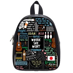 Book Quote Collage School Bag (small) by Samandel