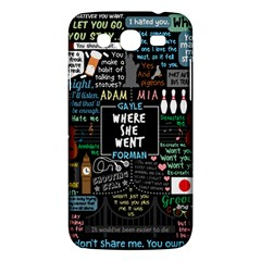 Book Quote Collage Samsung Galaxy Mega 5 8 I9152 Hardshell Case  by Samandel