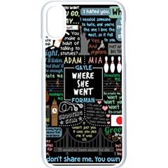Book Quote Collage Apple Iphone X Seamless Case (white) by Samandel