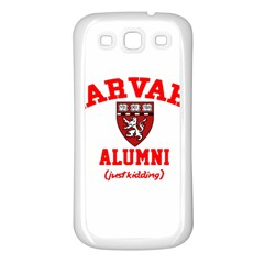 Harvard Alumni Just Kidding Samsung Galaxy S3 Back Case (white)