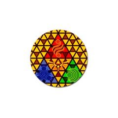The Triforce Stained Glass Golf Ball Marker