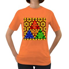 The Triforce Stained Glass Women s Dark T Shirt