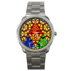 The Triforce Stained Glass Sport Metal Watch