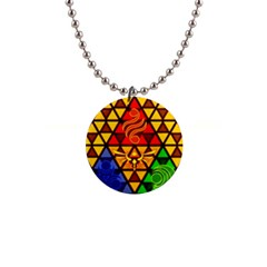 The Triforce Stained Glass Button Necklaces