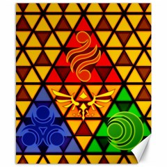 The Triforce Stained Glass Canvas 8  X 10