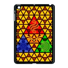 The Triforce Stained Glass Apple Ipad Mini Case (black)