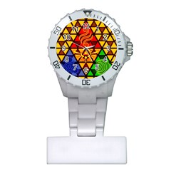 The Triforce Stained Glass Plastic Nurses Watch by Samandel