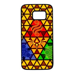 The Triforce Stained Glass Samsung Galaxy S7 Black Seamless Case
