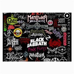 Metal Bands College Large Glasses Cloth by Samandel