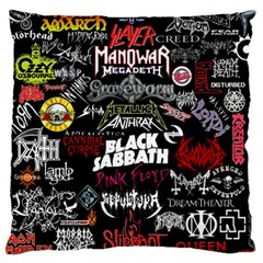 Metal Bands College Large Cushion Case (one Side)