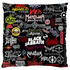 Metal Bands College Large Flano Cushion Case (two Sides) by Samandel