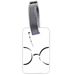 Harry Potter Inspired Lightning Glasses Symbol Luggage Tags (two Sides)