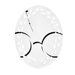 Harry Potter Inspired Lightning Glasses Symbol Ornament (oval Filigree)