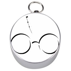 Harry Potter Inspired Lightning Glasses Symbol Silver Compasses