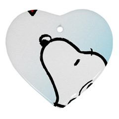 Snoopy Love Ornament (heart) by Samandel