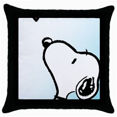 Snoopy Love Throw Pillow Case (black)