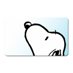 Snoopy Love Magnet (rectangular)