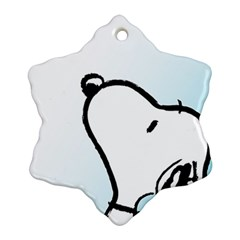 Snoopy Love Snowflake Ornament (two Sides)