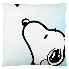 Snoopy Love Large Cushion Case (two Sides) by Samandel