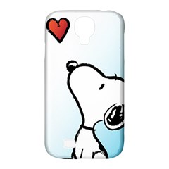 Snoopy Love Samsung Galaxy S4 Classic Hardshell Case (pc+silicone) by Samandel