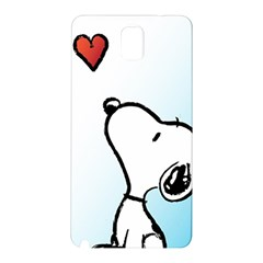 Snoopy Love Samsung Galaxy Note 3 N9005 Hardshell Back Case