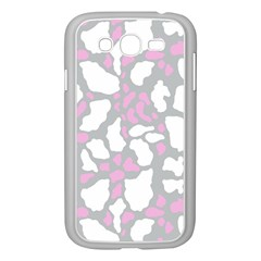 Pink Grey White Cow Print Samsung Galaxy Grand Duos I9082 Case (white) by LoolyElzayat