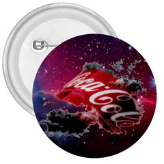 Coca Cola Drinks Logo On Galaxy Nebula 3  Buttons