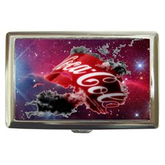 Coca Cola Drinks Logo On Galaxy Nebula Cigarette Money Cases by Samandel