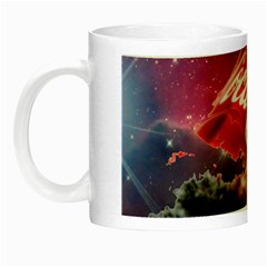 Coca Cola Drinks Logo On Galaxy Nebula Night Luminous Mugs by Samandel