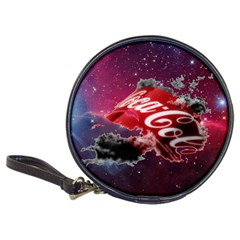 Coca Cola Drinks Logo On Galaxy Nebula Classic 20 Cd Wallets