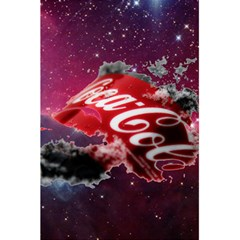Coca Cola Drinks Logo On Galaxy Nebula 5 5  X 8 5  Notebooks by Samandel