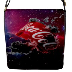 Coca Cola Drinks Logo On Galaxy Nebula Flap Messenger Bag (s)