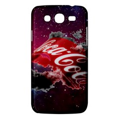 Coca Cola Drinks Logo On Galaxy Nebula Samsung Galaxy Mega 5 8 I9152 Hardshell Case  by Samandel