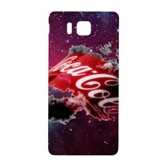 Coca Cola Drinks Logo On Galaxy Nebula Samsung Galaxy Alpha Hardshell Back Case by Samandel