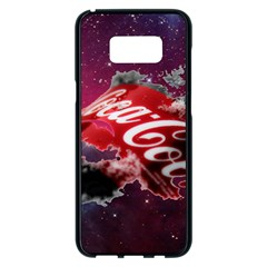 Coca Cola Drinks Logo On Galaxy Nebula Samsung Galaxy S8 Plus Black Seamless Case