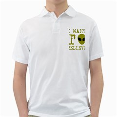 I Want To Believe Golf Shirts