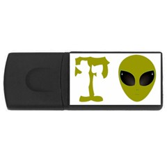 I Want To Believe Rectangular Usb Flash Drive by Samandel